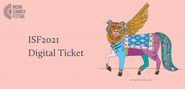 ISF2021 Digital Ticket graphic featuring shapeshifter art work